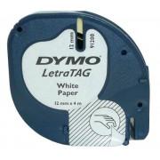 Lettertape Dymo LetraTag S0721510 (91200) tape 12mm x 4m (origineel)