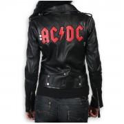 bunda dámská (křivák) AC/DC - LNTC Black - AD-17-WSJ-01