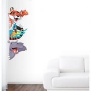 EJA Art cute Animal Wall Sticker (Material - PVC) (Pec - 1) With Free Set of 12 pec butterflies sticker