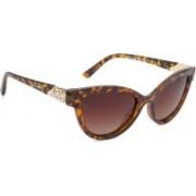 Velocity Cat-eye Sunglasses(Brown)