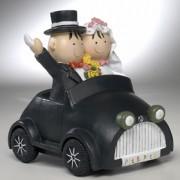 Novios hucha Pit & Pita en coche