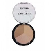Sivanna 3 Multi-Shade Shimmer Face Pressed Powder Bronzer Deep Dark 4 gm