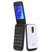 Alcatel 2053X nagygombos, dual sim-es, kártyafüggetlen kinyitható mobiltelefon fehér
