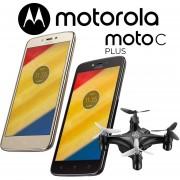 Combo! Motorola Moto C Plus 16GB Dual Sim 4000 mAh- Negro