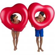 Geen Opblaasbaar rood hart zwemband 2 stuks