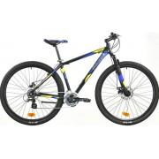 "Bicicleta MTB Good Bike Desert Disc, 21 viteze, Roti 29"" (Negru/Albastru)"