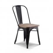 Rose & Moore Chaise de Bistrot Industrielle en Bois et Métal Rose & Moore