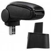 Подлакътник [pro.tec]® Seat Ibiza 6L с контейнер за съхранение, Еко кожа/Черен, бял шев