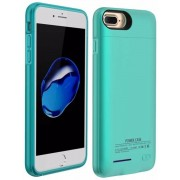 Blauw smart batterij hoesje / battery case met stand functie voor Apple iPhone 6 / 6s en Apple iPhone 7