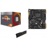 Rockin IT AMD 2400G & ASUS TUF B450-PLUS GAMING & CORSAIR VENGEANCE LPX 8GB 2666MHz DDR4 Bundle