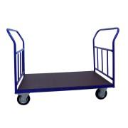 HTI Plošinový vozík 1200x700 - se svislými příčkami - 500 kg - Pryžová kola