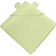 Bubaba ručnik s kapuljačom s ušima 75x75 cm zeleni