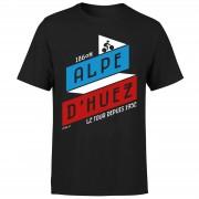 The Broom Wagon ALPE D'HUEZ Men's T-Shirt - Black - XL - Black