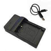 Ismartdigi Micro USB cargador de bateria de la camara movil para Fujifilm- Negro