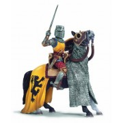 Schleich Lion Coat of Arms Knight with sword on horse