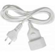 Muanyag hosszabbító kábel 5m fehér H03VVH2-F 2x0,75