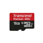 16GB Micro SD memorijska kartica sa SD adapterom Class 10 UHS-1 Transcend TS16GUSDU1