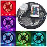 REBUY Waterproof RGB Remote Control Color Changing LED Strip Light 5 m