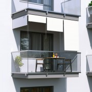 Jarolift Store Extérieur Vertical, Blanc, 240 x 140 cm