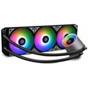 "COOLER DeepCool CPU universal. cu LICHID. soc LGA20xx/1366/115x & TR4/AMx/FMx, AL+Cu+lichid, 3x 120 ADD RGB fans, 150W, ""CASTLE 360 RGB"""