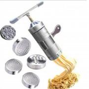 Louiwill Manual De Acero Inoxidable Pasta Maker Fideos Máquina De La Prensa Con 5 Estilo Fideos En 1 Juego (Plata)
