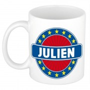 Bellatio Decorations Namen koffiemok / theebeker Julien 300 ml