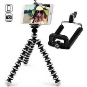 Flexible Mini Gorilla Tripod For Smart Phone Camera With Universal Mobile Monopod (10 Inch)