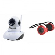 Mirza Wifi CCTV Camera and Mini 503 Bluetooth Headset for SAMSUNG GALAXY S 5 MINI DUOS(Wifi CCTV Camera with night vision  Mini 503 Bluetooth Headset )