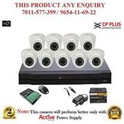 Cp Plus 2.4 MP HD 16CH DVR + Cp plus HD DOME IR CCTV Camera 9Pcs + 1 TB HDD + POWER SUPLAY + BNC + DC CCTV COMBO