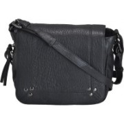 Miles London Women Black Genuine Leather Sling Bag