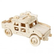 VolksRose® 3D Wooden Jigsaw Puzzle - SUV - Children Educational Wood Craft Puzzles Toy DIY Kit for Child 3 Year and Up -- Perfect Christmas Gift for Your Kids
