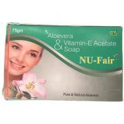 NU-Fair Fairness Aloevera Vitamin-E Soap ( Pack of 5 pcs. ) 75 gm each