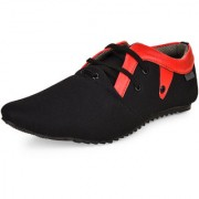 Essence Men's Black Synthetic Lace-Up Casual Shoes