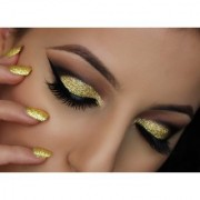 SUPER BRIGHT GOLDEN GLITTER SHIMMER DUST FOR BEAUTY QUEEN Pack of 2