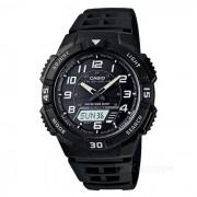 Casio AQ-S800W-1BVDF resistente reloj deportivo solar - negro + blanco