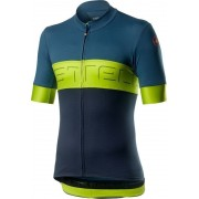 Castelli Prologo VI tricou ciclism bărbați Light Steel Blue/Chartreuse/Dark Steel Blue M