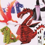 Dragoni din hârtie Djeco