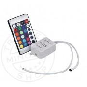 RGB LED vezérlő távirányítóval 12/24V
