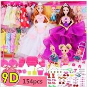Fashion Pretty Wedding Dress Baby Doll Dressup Dolls Set Gift Box Toy Fashion Princess Dolls Accessories Gifts for