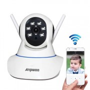 Anpwoo AP001 1.0MP 720 P HD WiFi IP-Camera Support bewegings detectie / nacht Vision(White)