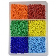 eshoppee 6/0 4mm glass seed beads for art and craft making diy kit 300 gm. (multi-color 1)