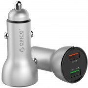 ORICO UPF-Q2 Dual USB Rapid Car Charger for iPhone Samsung Huawei etc. - Silver