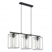 EGLO metalowa lampa sufitowa Loncino 49496 czarna