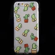 Shop4 - iPhone 6 / 6s Hoesje - Zachte Back Case Cactus