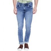 Stylox Men's Premium Slim Fit Stretchable Mid Rise Light Blue Jeans