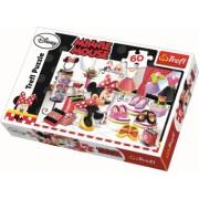 Puzzle clasic pentru copii - Minnie Mouse la shopping 60 piese
