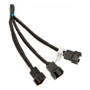 Cablu Y-Splitter EK Water Blocks EK-Cable de la 4-pini PWM la 3x4-pini PWM, 10cm