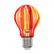 Bec E27-LED-A60 Eglo 12568, 1x6.5W 500lm 1800K lumina calda, Rosu, portocaliu