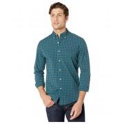 JCrew Slim Stretch Secret Wash Shirt in Past Plaid Organic Cotton Backtothepast Green