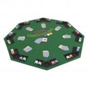 Sonata Сгъваем покер плот за маса за 8 играчи, осмоъгълен, зелен